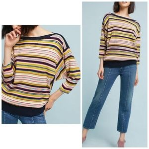 Anthropologie Moth Striped Dolman Pullover sweater